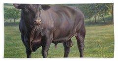 Black Angus Bull 2 Hand Towel by Hans Droog