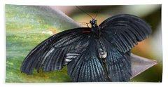 Black Butterfly Bath Towel