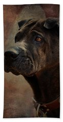 Black Chinese Shar-pei Hand Towel
