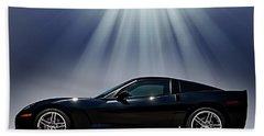 Black Corvette Bath Towel