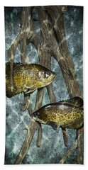 Black Crappies A Fish Image No 0143 Blue Version Hand Towel