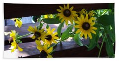 Bath Towel featuring the photograph Black-eyed Susans by Ellen Tully