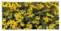 Black Eyed Susans Hand Towel by Lena Auxier