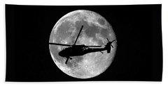 Black Hawk Moon Hand Towel