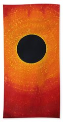 Black Hole Sun Original Painting Hand Towel
