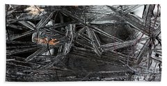 Black Ice Bath Towel by Kenny Glotfelty