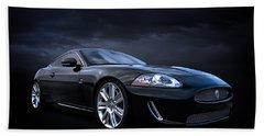 Black Jaguar Hand Towel