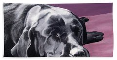 Black Labrador Beauty Sleep Hand Towel