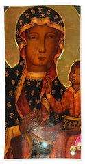 Black Madonna Of Czestochowa Bath Towel