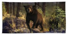 Bath Towel featuring the painting Black Max by Rob Corsetti