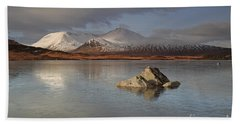 Black Mount And Lochan Na H-achlaise Bath Towel