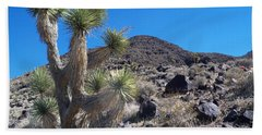 Hand Towel featuring the photograph Black Mountain Yucca by Alan Socolik