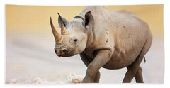 Black Rhinoceros Hand Towel