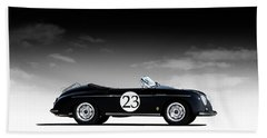 Black Speedster Bath Towel
