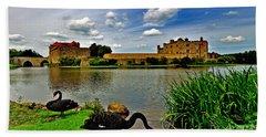Black Swans At Leeds Castle II Hand Towel
