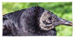 Black Vulture Waiting For Prey Bath Towel