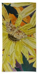 Blackeyed Susans And Butterfly Hand Towel