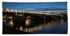 Bath Towel featuring the photograph Blackfriars Bridge - London U K by Georgia Mizuleva