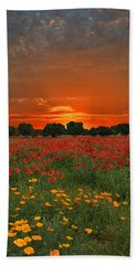 Blaze Of Glory Hand Towel by Lynn Bauer