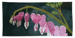 Hand Towel featuring the painting Bleeding Heart by Lynne Reichhart