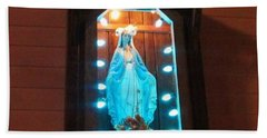Blessed Mary - New Orleans La - Www.rocknbowl.com Hand Towel