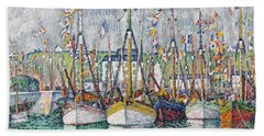 Blessing Of The Tuna Fleet At Groix Hand Towel