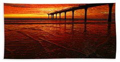 Blood Red Dawn Hand Towel