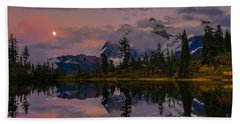 Bloodmoon Rise Over Picture Lake Bath Towel