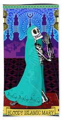 Bloody Islamic Mary Bath Towel by Tammy Wetzel