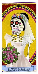 Bloody Married Bath Towel by Tammy Wetzel