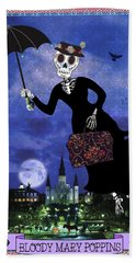 Bloody Mary Poppins Bath Towel by Tammy Wetzel