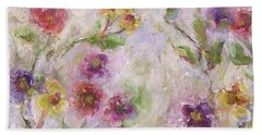 Bath Towel featuring the painting Bloom by Mary Wolf