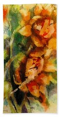 Blooming Flowers - Batik Bath Towel