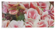 Blooming Roses Bath Towel by Ivy Ho