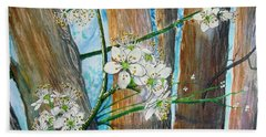 Blooms Of The Cleaveland Pear Hand Towel