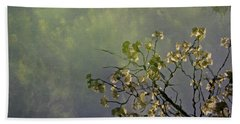 Hand Towel featuring the photograph Blossom Reflection by Marilyn Wilson