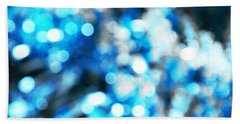 Hand Towel featuring the digital art Blue And White Bokeh by Fine Art By Andrew David