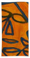 Blue And Orange Bath Towel