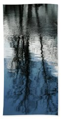 Blue And White Reflections Bath Towel