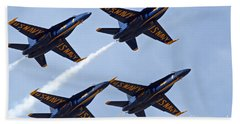 Blue Angels Over Colorado Bath Towel