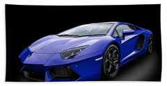 Blue Aventador Hand Towel by Matt Malloy
