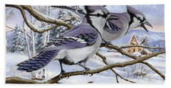 Blue Bandits Winter Afternoon Hand Towel