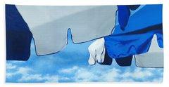 Blue Beach Umbrellas 2 Hand Towel