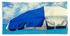 Blue Beach Umbrellas 1 Hand Towel