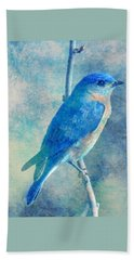 Blue Bird Blue Sky Bath Towel