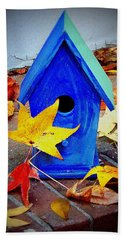 Bath Towel featuring the photograph Blue Bird House by Rodney Lee Williams
