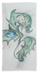 Blue Blossom 2 Bath Towel