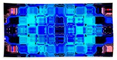 Blue Bubble Glass Hand Towel by Anita Lewis
