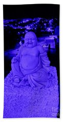 Blue Buddha And The Blue City Bath Towel