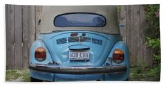 Blue Bug Hand Towel by Debi Demetrion